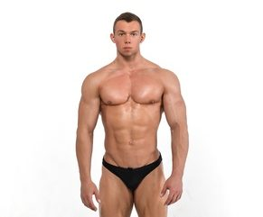 Muscled male model cropped